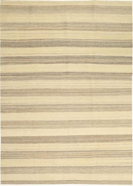 キリム モダン 絨毯 174X246 モダン 手織り ベージュ/薄い灰色 (ウール, ペルシャ/イラン)