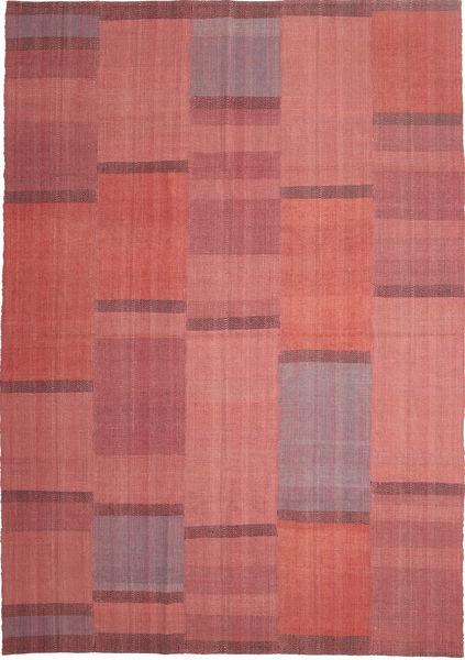 キリム モダン 絨毯 208X299 モダン 手織り 錆色/深紅色の (ウール, ペルシャ/イラン)