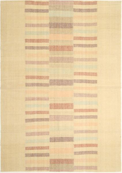 キリム モダン 絨毯 210X302 モダン 手織り ベージュ/暗めのベージュ色の (ウール, ペルシャ/イラン)