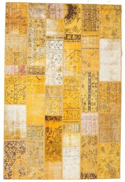 パッチワーク 絨毯 199X301 モダン 手織り 暗めのベージュ色の/薄茶色/ベージュ (ウール, トルコ)