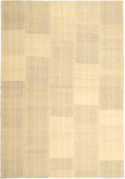 キリム モダン 絨毯 203X290 モダン 手織り ベージュ/薄茶色 (ウール, ペルシャ/イラン)