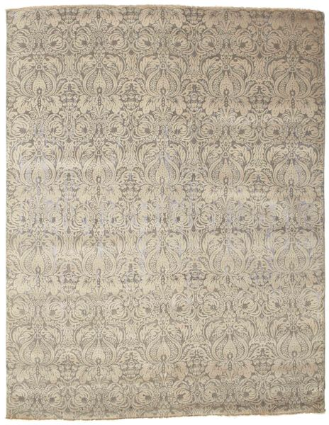 Damask 絨毯 236X305 モダン 手織り 薄い灰色 ( インド)