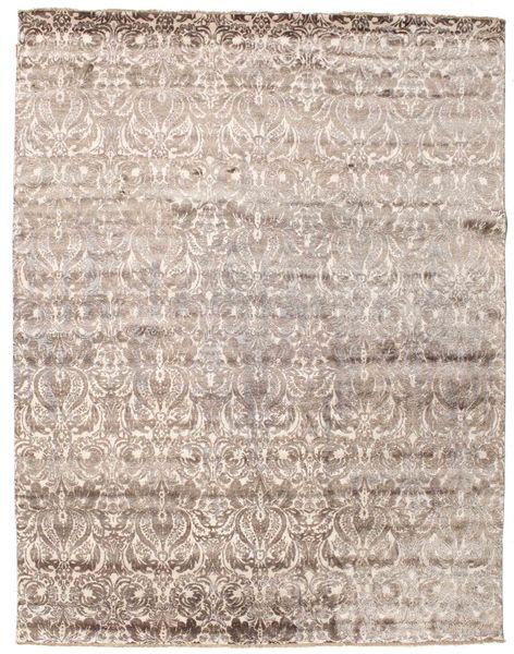 Damask 絨毯 239X307 モダン 手織り 薄い灰色/ホワイト/クリーム色 ( インド)