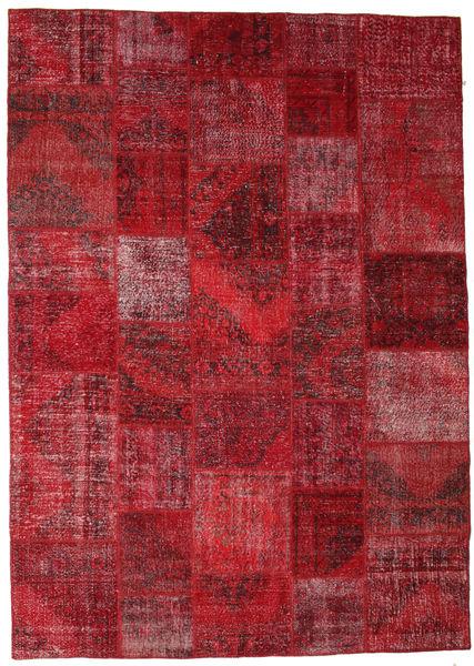パッチワーク 絨毯 248X350 モダン 手織り 深紅色の/赤 (ウール, トルコ)