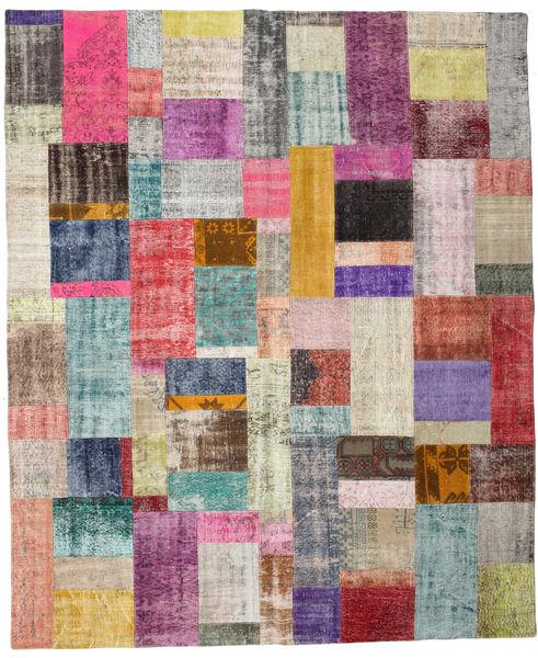 パッチワーク 絨毯 252X302 モダン 手織り 薄い灰色/濃いグレー 大きな (ウール, トルコ)