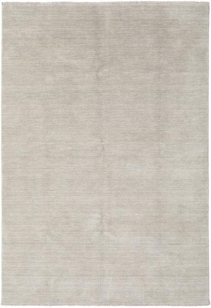 ハンドルーム Fringes - Greige 絨毯 160X230 モダン 薄い灰色 (ウール, インド)