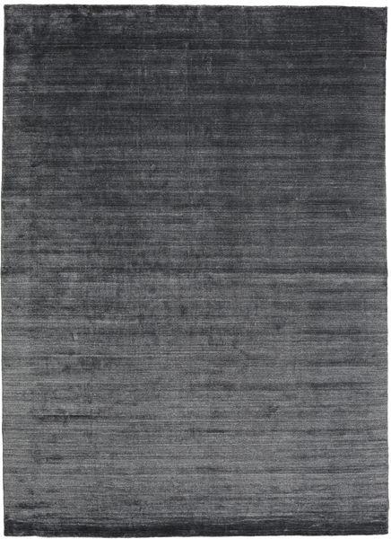 Bamboo シルク ルーム - チャコール 絨毯 200X300 モダン 黒/紫/濃いグレー ( インド)