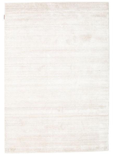 Bamboo シルク ルーム - ベージュ 絨毯 140X200 モダン ベージュ/ホワイト/クリーム色 ( インド)