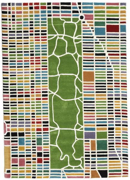New-York/Manhattan Handtufted - Multi 絨毯 160X230 モダン ベージュ/深緑色の (ウール, インド)