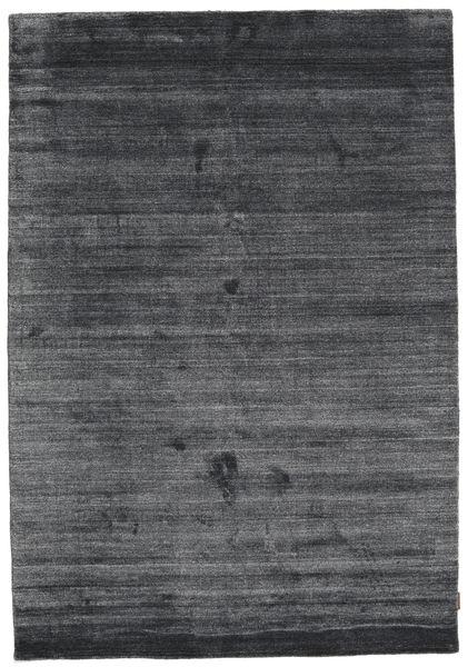 Bamboo シルク ルーム - チャコール 絨毯 160X230 モダン 紫/黒/濃いグレー ( インド)