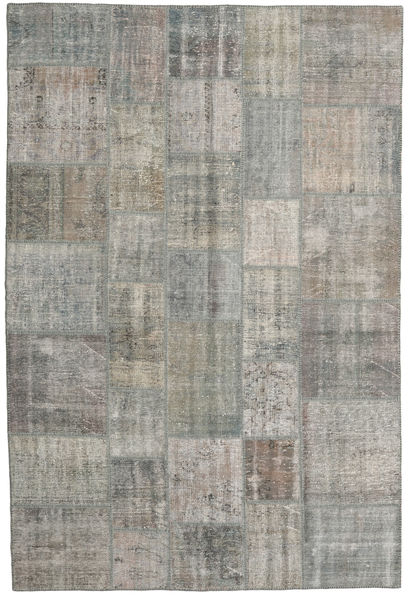 パッチワーク 絨毯 204X305 モダン 手織り 薄い灰色/濃いグレー (ウール, トルコ)
