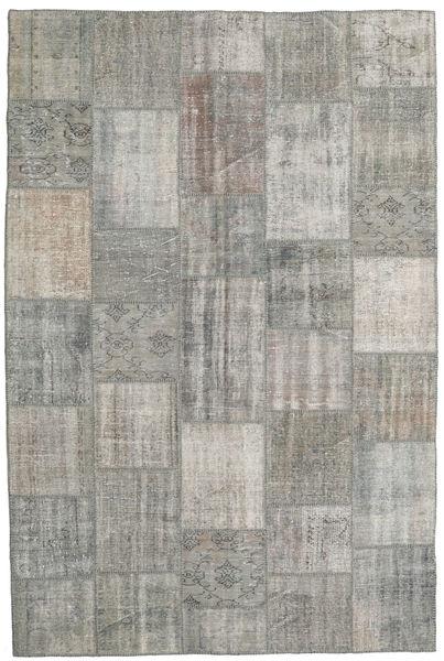 パッチワーク 絨毯 200X300 モダン 手織り 薄い灰色 (ウール, トルコ)