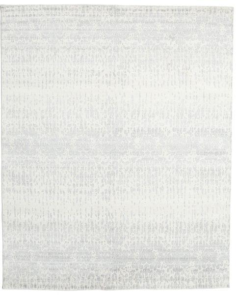Himalaya 絨毯 241X297 モダン 手織り 薄い灰色/ベージュ (ウール/バンブーシルク, インド)
