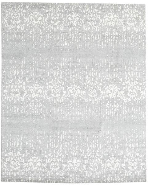 Himalaya 絨毯 245X305 モダン 手織り ホワイト/クリーム色/ベージュ (ウール/バンブーシルク, インド)
