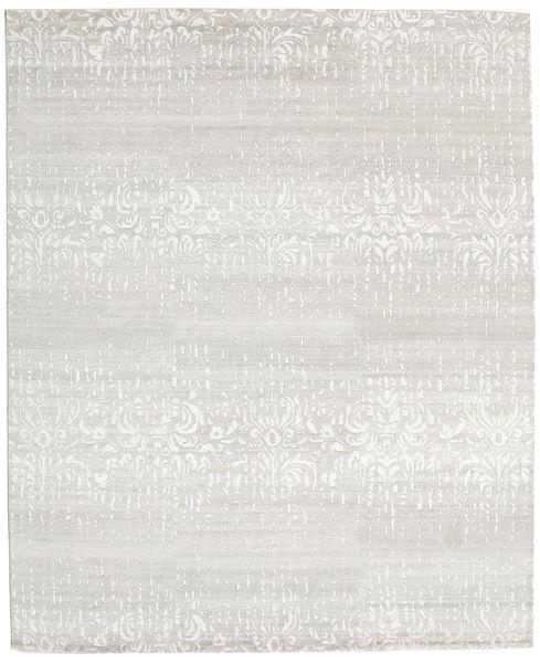 Himalaya 絨毯 249X303 モダン 手織り 暗めのベージュ色の/薄い灰色 (ウール/バンブーシルク, インド)