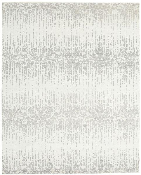 Himalaya 絨毯 246X305 モダン 手織り ベージュ/薄い灰色/ホワイト/クリーム色 (ウール/バンブーシルク, インド)