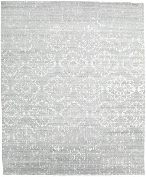 Himalaya 絨毯 248X303 モダン 手織り ベージュ/ターコイズブルー (ウール/バンブーシルク, インド)