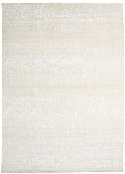 Himalaya 絨毯 303X421 モダン 手織り 暗めのベージュ色の/ベージュ/薄い灰色 大きな (ウール/バンブーシルク, インド)