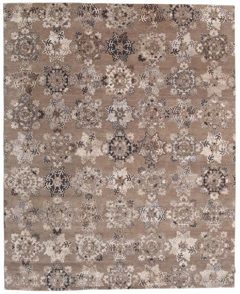 Himalaya Bambu シルク 絨毯 246X304 モダン 手織り 薄い灰色/茶 ( インド)