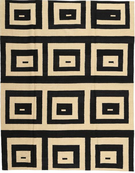 キリム モダン 絨毯 180X225 モダン 手織り 黒/薄茶色 (ウール, アフガニスタン)