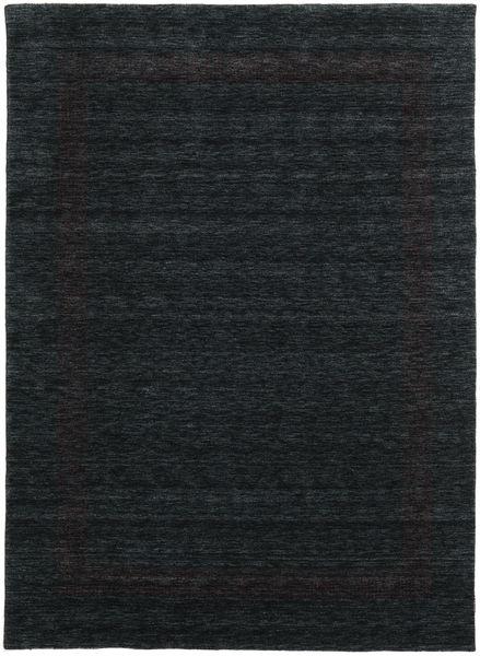 ハンドルーム Gabba - 黒/グレー 絨毯 210X290 モダン 黒 (ウール, インド)