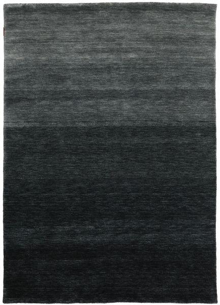 ギャッベ Up To Down 絨毯 160X230 モダン 黒/深緑色の (ウール, インド)