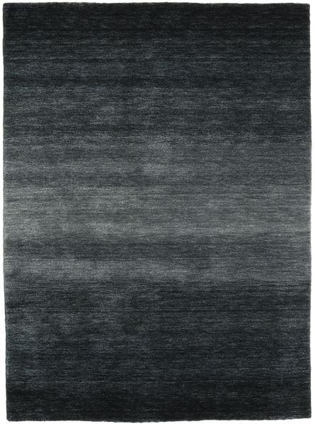 ギャッベ Rainbow - グレー 絨毯 140X200 モダン 黒/濃いグレー (ウール, インド)