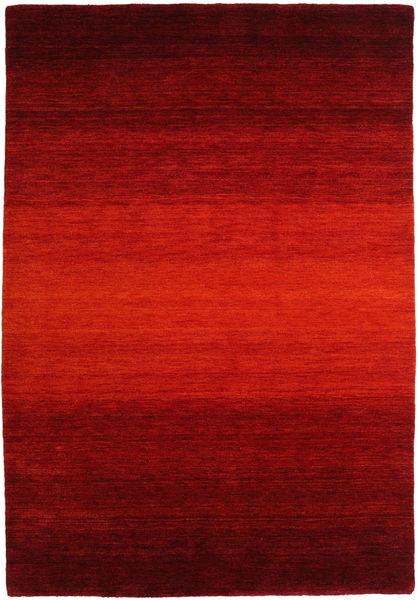 ギャッベ Rainbow - 赤 絨毯 160X230 モダン 錆色/深紅色の/濃い茶色 (ウール, インド)