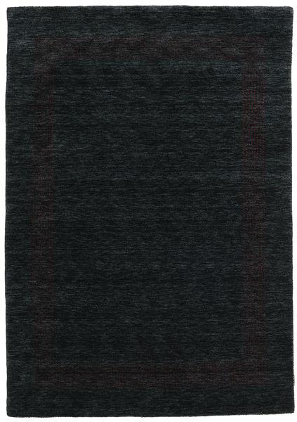 ハンドルーム Gabba - 黒/グレー 絨毯 160X230 モダン 黒 (ウール, インド)