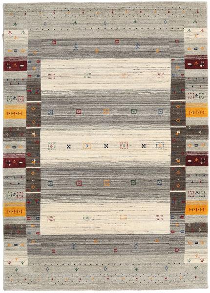 Loribaf ルーム Designer 絨毯 140X200 モダン 薄い灰色/ベージュ (ウール, インド)
