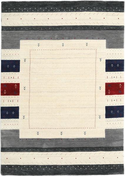 Loribaf ルーム Designer 絨毯 160X230 モダン ベージュ/濃いグレー (ウール, インド)