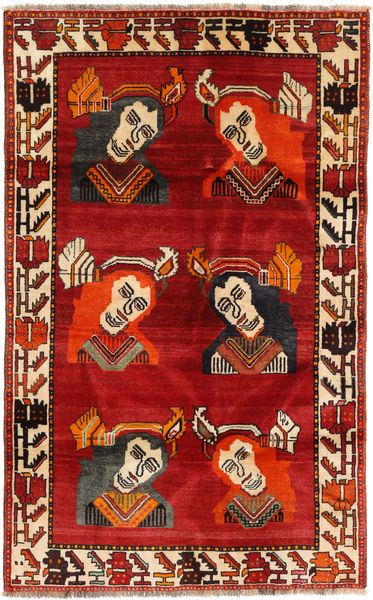 カシュガイ 絨毯 110X178 オリエンタル 手織り 錆色/濃い茶色 (ウール, ペルシャ/イラン)