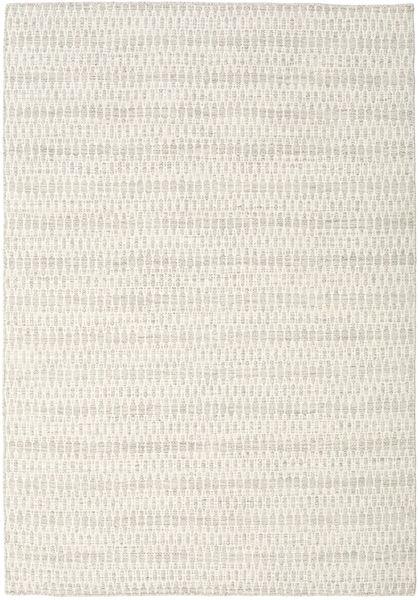 キリム Long Stitch - ベージュ 絨毯 160X230 モダン 手織り 薄い灰色/ベージュ (ウール, インド)