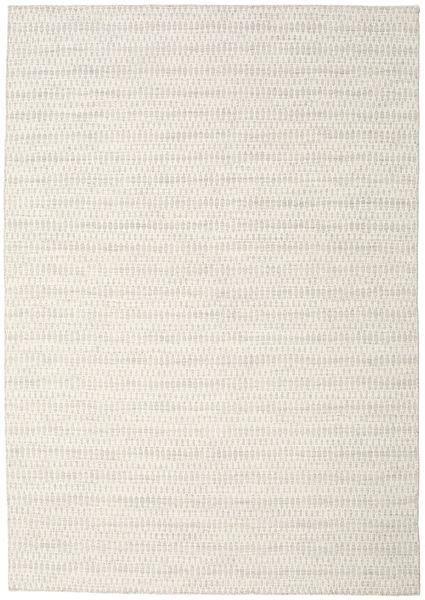 キリム Long Stitch - ベージュ 絨毯 240X340 モダン 手織り 薄い灰色/ベージュ (ウール, インド)