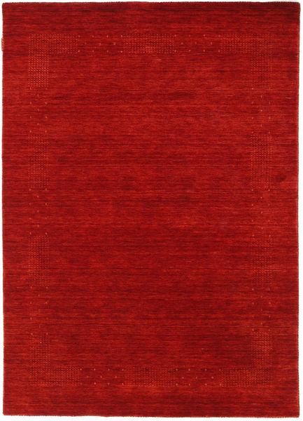 Loribaf ルーム Beta - 赤 絨毯 140X200 モダン 錆色/深紅色の (ウール, インド)