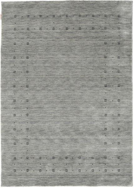 Loribaf ルーム Delta - グレー 絨毯 160X230 モダン 薄い灰色/ターコイズブルー (ウール, インド)