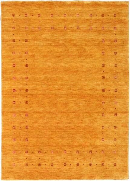 Loribaf ルーム Delta - ゴールド 絨毯 140X200 モダン 黄色/薄茶色 (ウール, インド)
