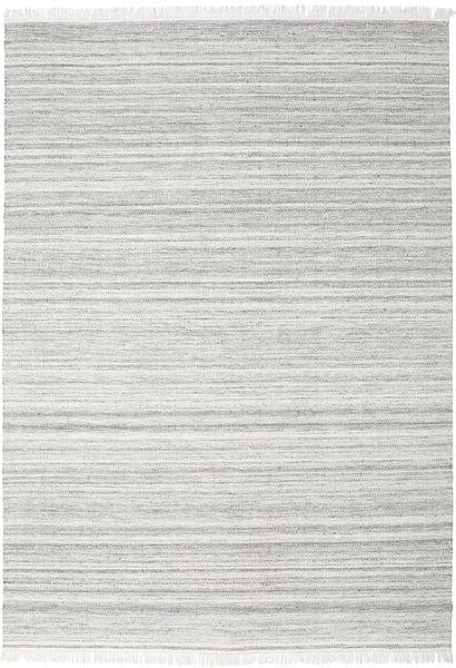 Diamond ウール - グレー 絨毯 240X340 モダン 手織り 薄い灰色/ホワイト/クリーム色 (ウール, インド)