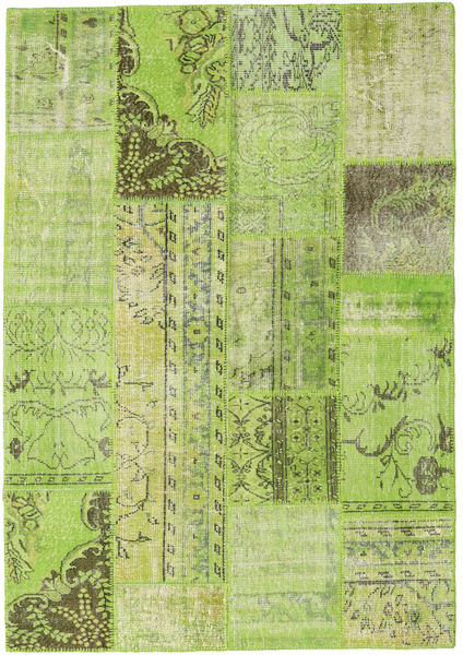 パッチワーク 絨毯 161X231 モダン 手織り ライトグリーン/オリーブ色 (ウール, トルコ)