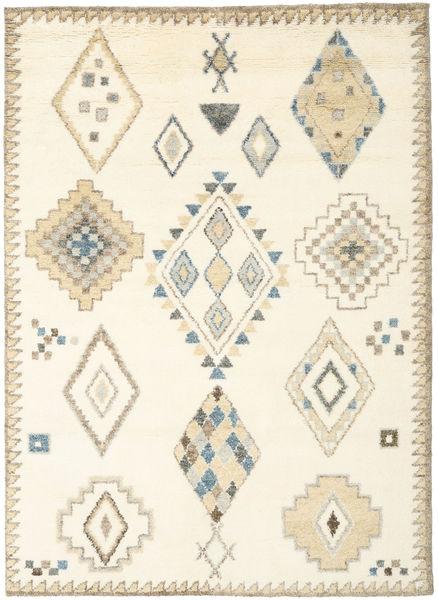 Berber インド - オフホワイト/ベージュ 絨毯 210X290 モダン 手織り ホワイト/クリーム色/ベージュ (ウール, インド)