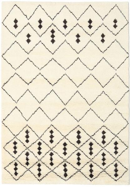 Berber インド - Off-白/黒 絨毯 160X230 モダン 手織り ベージュ/ホワイト/クリーム色 (ウール, インド)