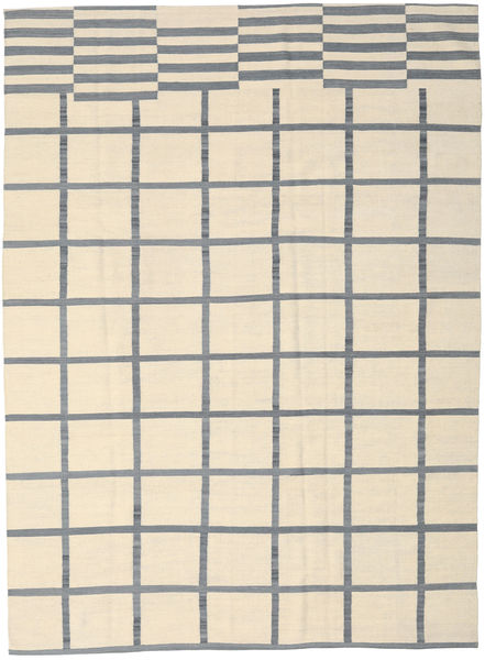 キリム モダン 絨毯 210X285 モダン 手織り ベージュ/水色 (ウール, インド)