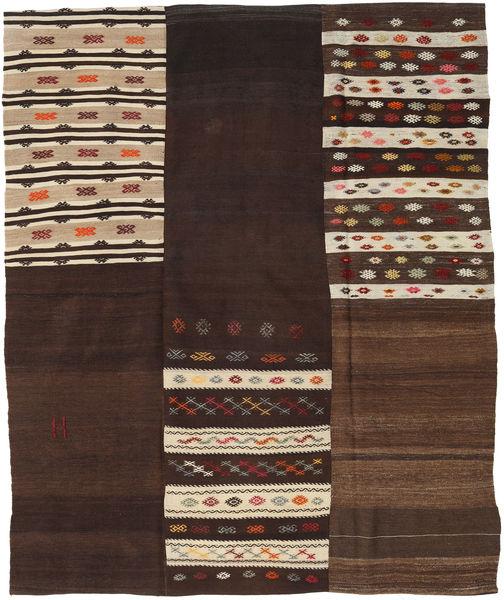 キリム パッチワーク 絨毯 208X253 モダン 手織り 濃い茶色/ベージュ (ウール, トルコ)
