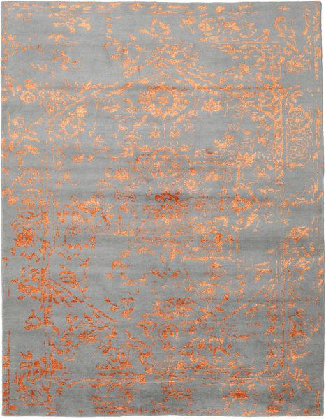 Orient Express - グレー/オレンジ 絨毯 240X300 モダン 手織り 薄い灰色 (ウール/バンブーシルク, インド)