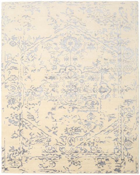Orient Express - 白/グレー 絨毯 240X300 モダン 手織り ベージュ/薄い灰色/黄色 (ウール/バンブーシルク, インド)