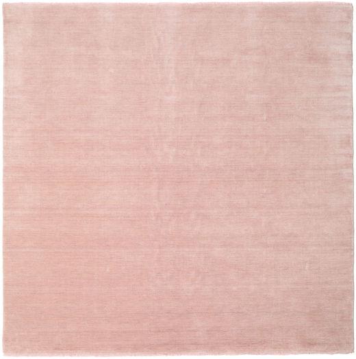ハンドルーム Fringes - ディープラスト 絨毯 250X250 モダン 正方形 ライトピンク/ベージュ 大きな (ウール, インド)