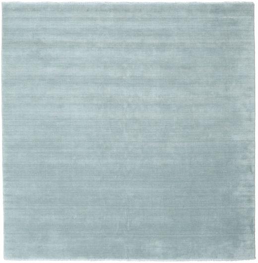 ハンドルーム Fringes - アイスブルー 絨毯 250X250 モダン 正方形 水色 大きな (ウール, インド)