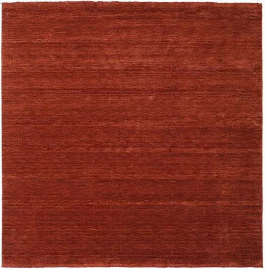 ハンドルーム Fringes - ディープラスト 絨毯 250X250 モダン 正方形 赤/錆色 大きな (ウール, インド)