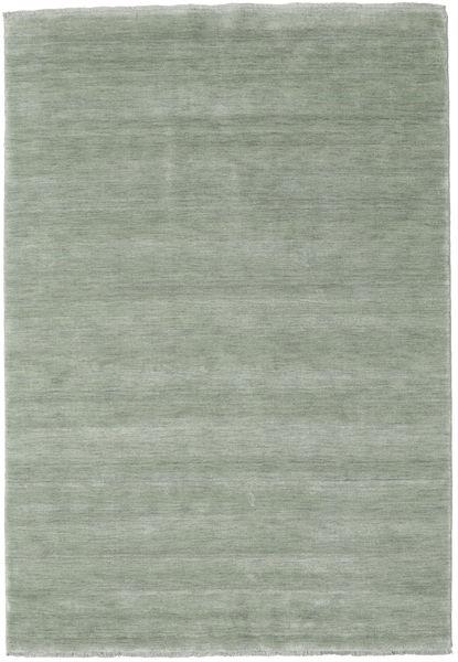 ハンドルーム Fringes - Soft Teal 絨毯 160X230 モダン ライトグリーン (ウール, インド)