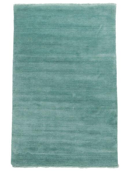 ハンドルーム Fringes - Aqua 絨毯 160X230 モダン ターコイズブルー/ターコイズ (ウール, インド)
